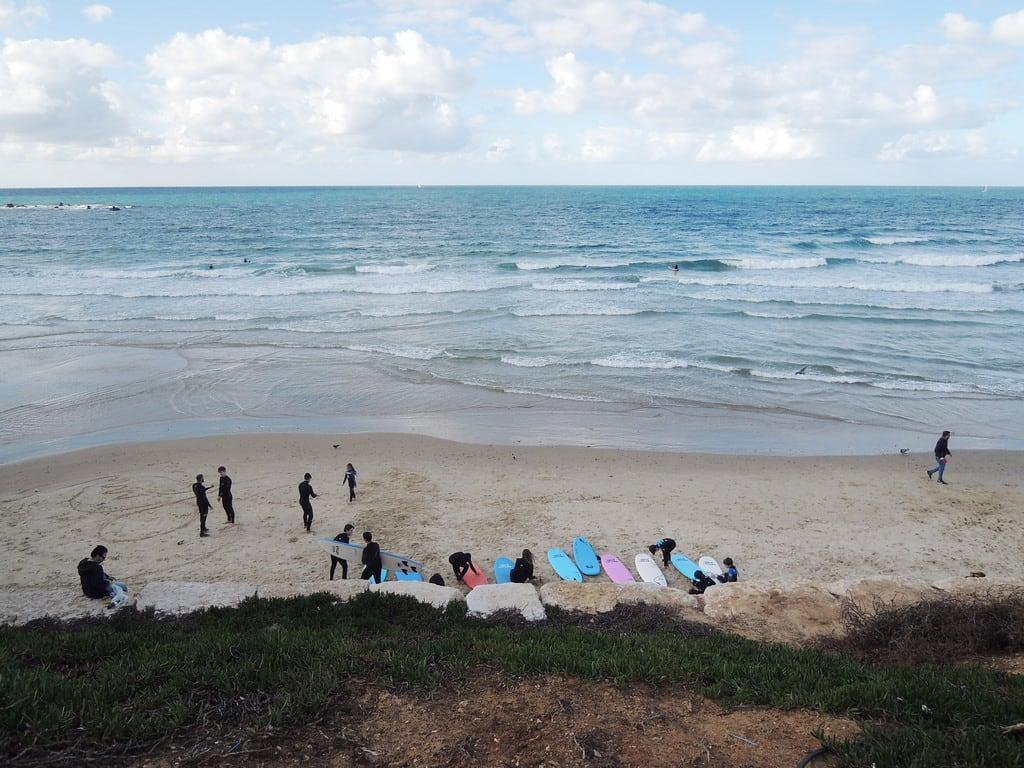 Neve Tsedek Beach 422 Méter hosszú strand képe. telaviv israel middleeast izrael