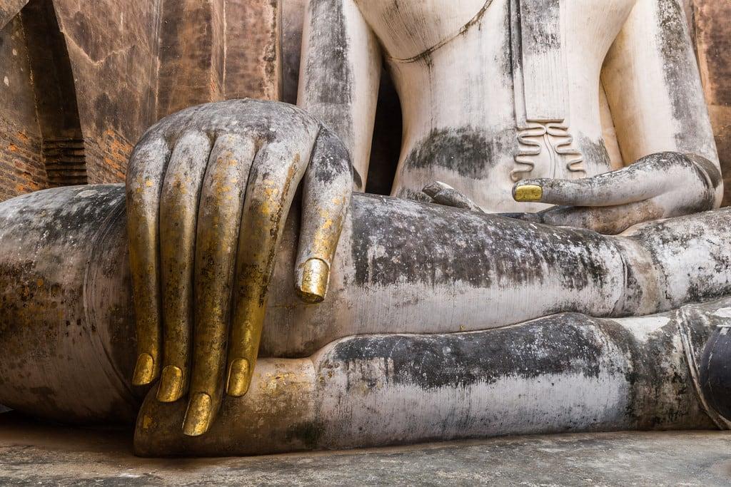 Image of Wat Si Chum. buddha sukhothai temple thailand thai unescoworldheritagesite unescoworldheritage watsrichum watsichum