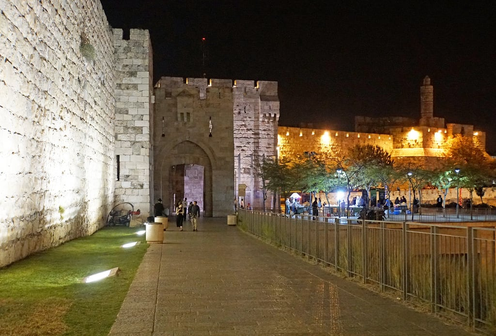 Image of Jaffa Gate. israel monument globus sony a6300 ilce6300 18200mm 1650mm mirrorless free freepicture archer10 dennis jarvis dennisgjarvis dennisjarvis iamcanadian novascotia canada jerusalem night