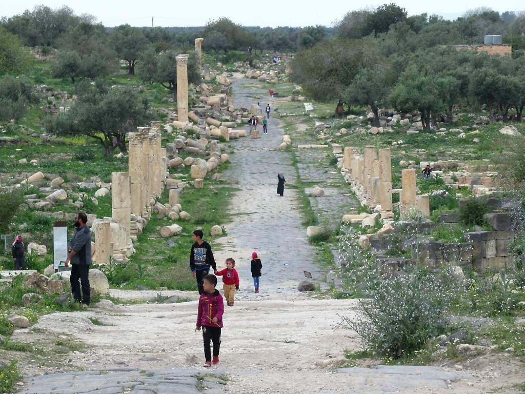 Umm Qais (Gadara) की छवि. decumanus maximus ummqays gadara jordan