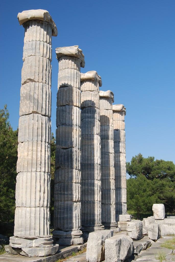 Image of Priene. turkey greek columns acropolis priene