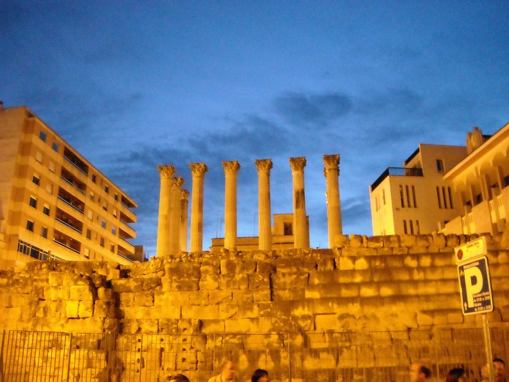 Obraz Templo romano. españa temple spain roman columns andalucia romano cordoba templo