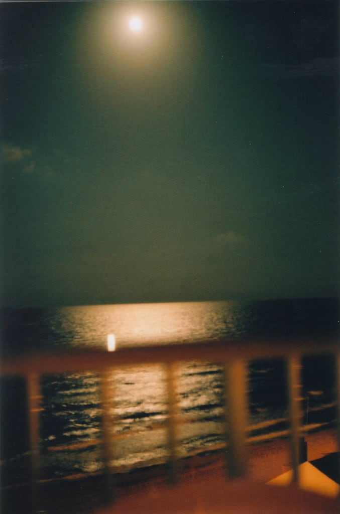 Image of Platja del Pouet. sea moon beach night analog noche mar playa luna yashica analogica yashicafx3 perello