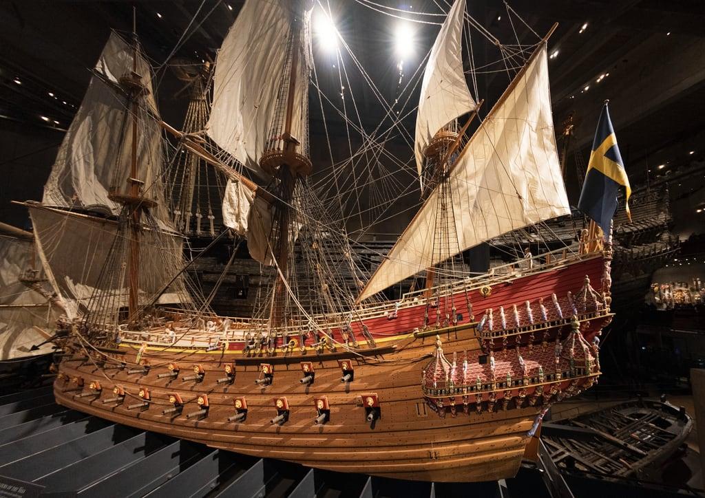 Image of Vasa Museum. sweden stockholm vasa ship boat sea sail sailing model museum