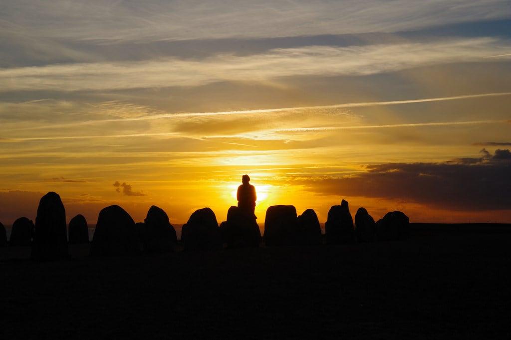 Image of Ales stenar. sigmaex1850mmf28 ale stones stenar kåseberga sweden ystad monolith monument sunset scania skåne österlen silhouette landscape