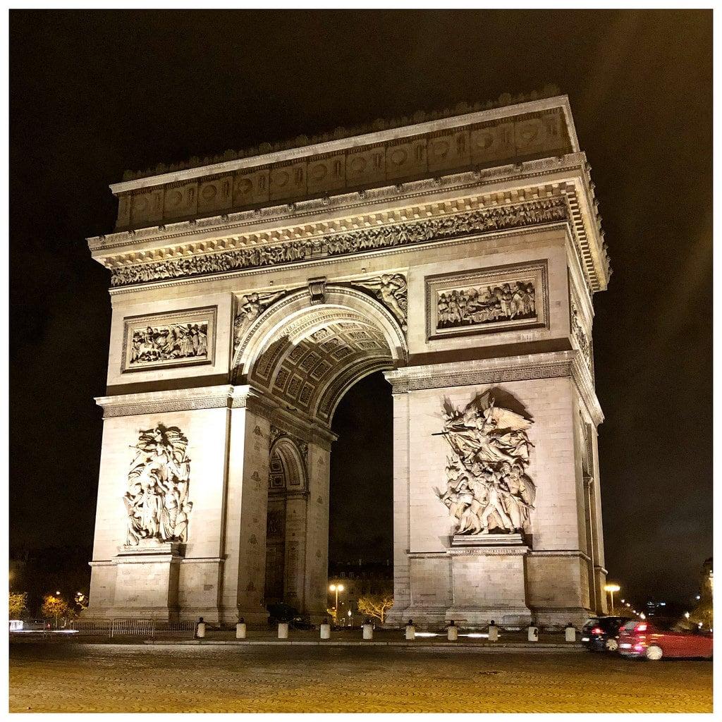 凯旋门 的形象. paris france triumphalarch arcdetriomphe