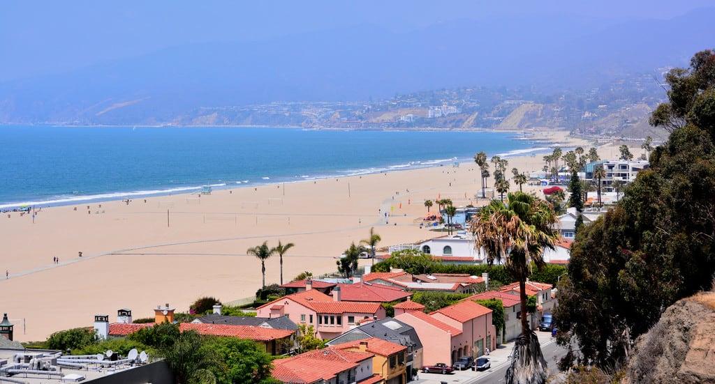 Bilde av Santa Monica State Beach. la losangeles santamonica baywatch malibu beach shore palms