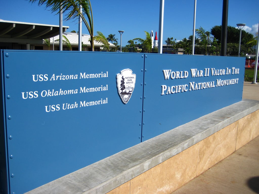 Image de World War II Valor in the Pacific National Monument près de 'Aiea. vacation holiday hawaii harbor oahu harbour wwii ww2 pearlharbor pearl worldwartwo