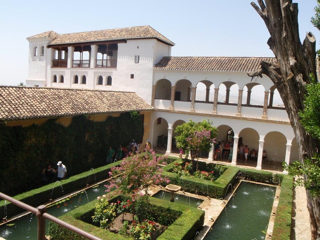 Image of Generalife Palace near Granada. spain palace alhambra granada andalusia generalife