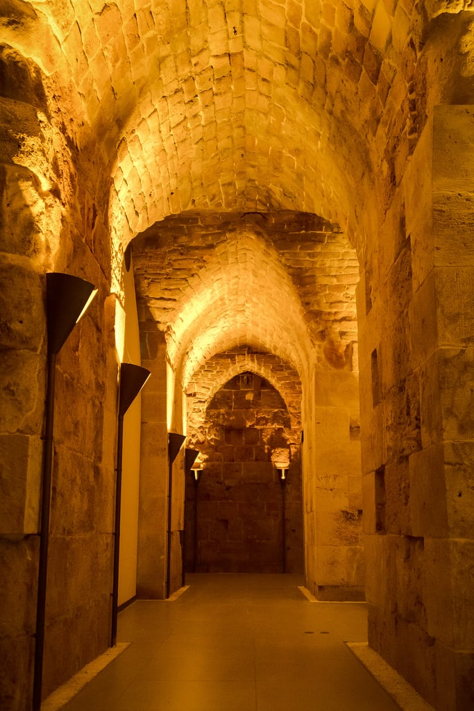 Image of Templar Tunnel. acre northdistrict israel il