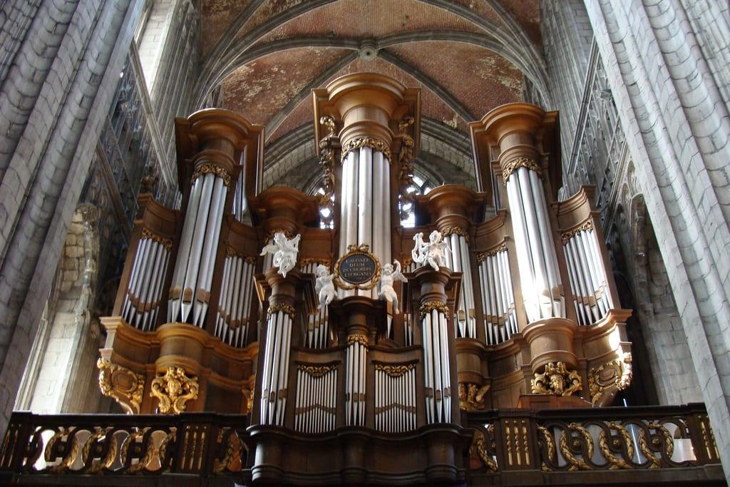 Image of Collégiale Sainte-Waudru. church organ mons orgue orgão waudru