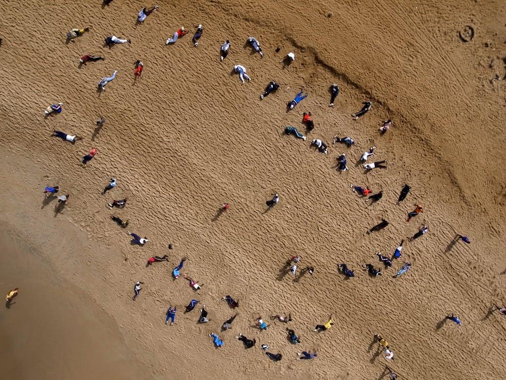沙滩 的形象. africa beach exercise westafrica senegal dakar kap kiteaerialphotography afrique autokap sénégal