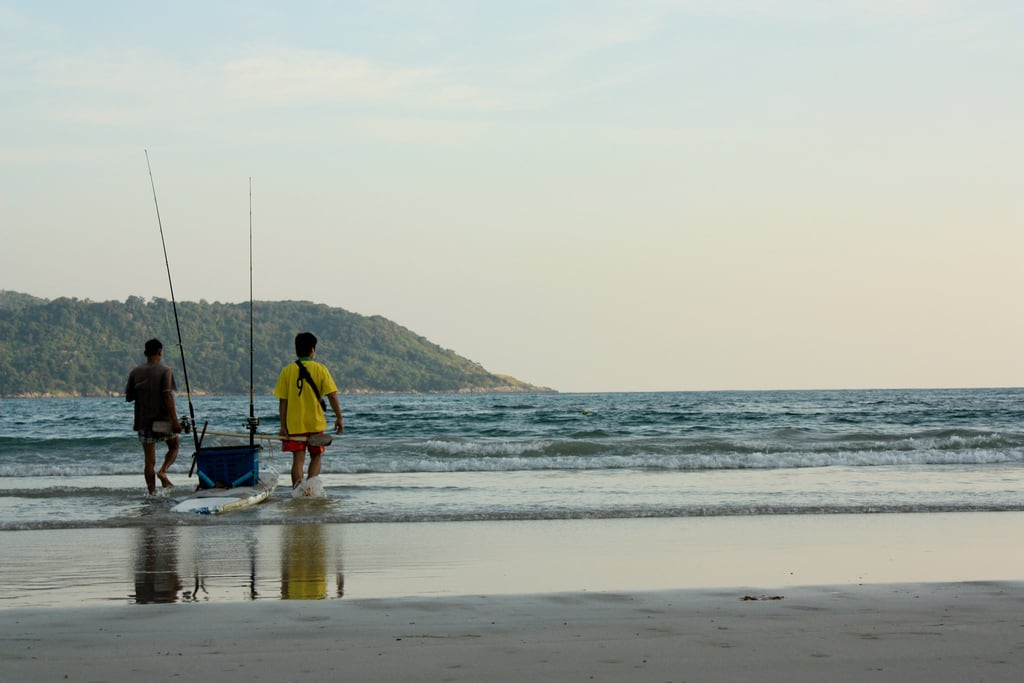 Image of Kata Yai Beach near Ban Karon. sunset seascape beach thailand best phuket