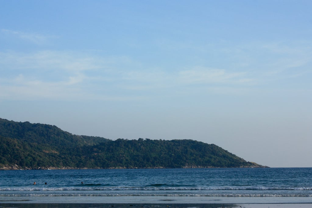 Image of Kata Yai Beach near Ban Karon. sunset seascape beach thailand phuket