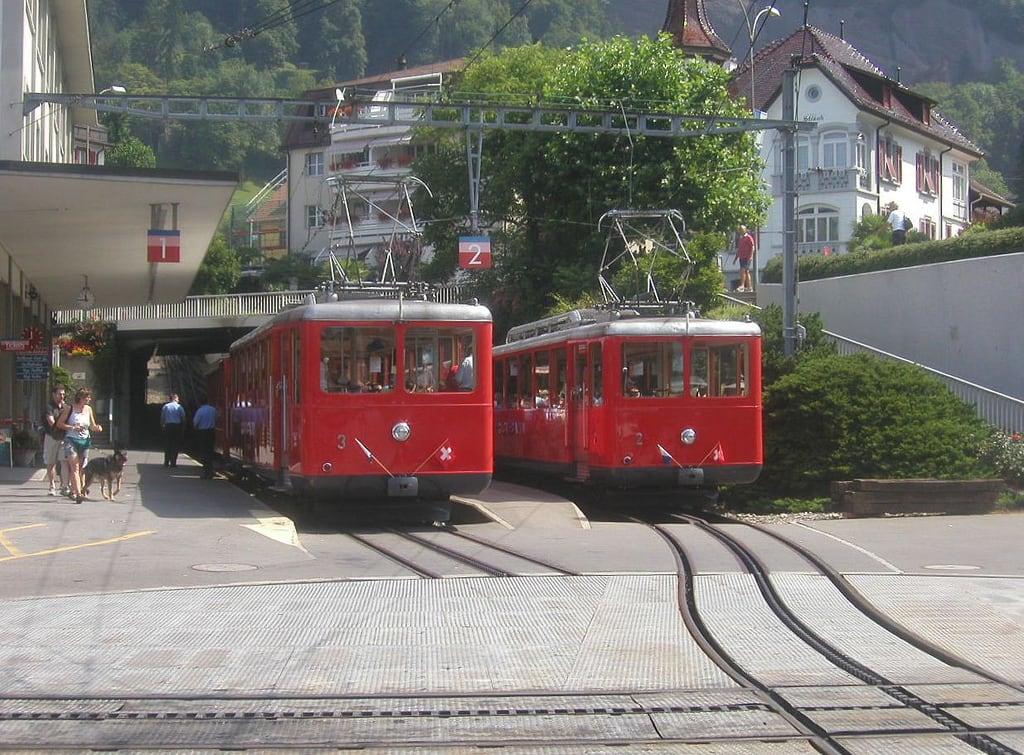 Image of Vitznau Rigi Bahn. switzerland luzern lucerne rigi mountainrailway vitznau