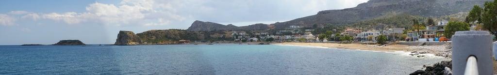 תמונה של Stegna Beach (Παραλία Στεγνών) Stegna Beach. panorama beach fotografie medium erik jacobs rhodos stegna