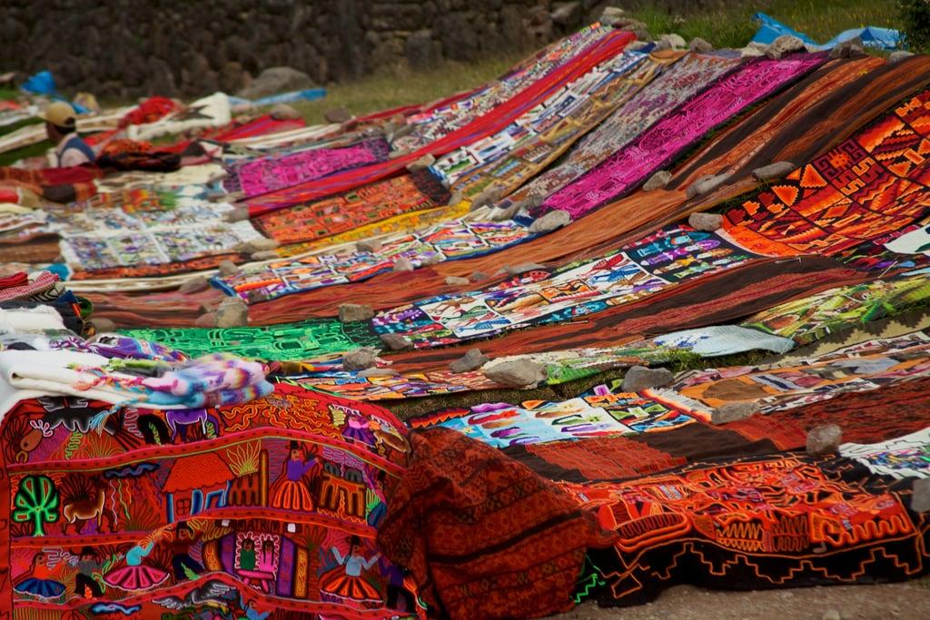 Image of Tambomachay. color colour peru geotagged handicraft market cusco textile tambomachay handwoven