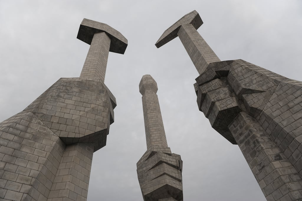 Image of Korean Workers Party Monument. party monument north korea communist founding pyongyang dprk