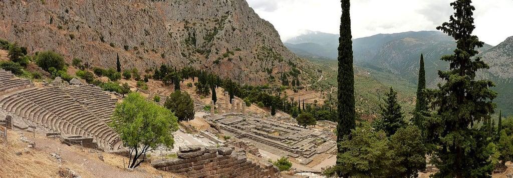Obrázek Δελφοί. delphi greece