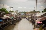 Zdjęcie:   Tajlandia  Bangkok  (pływających rynku, kanał, klasyczny)